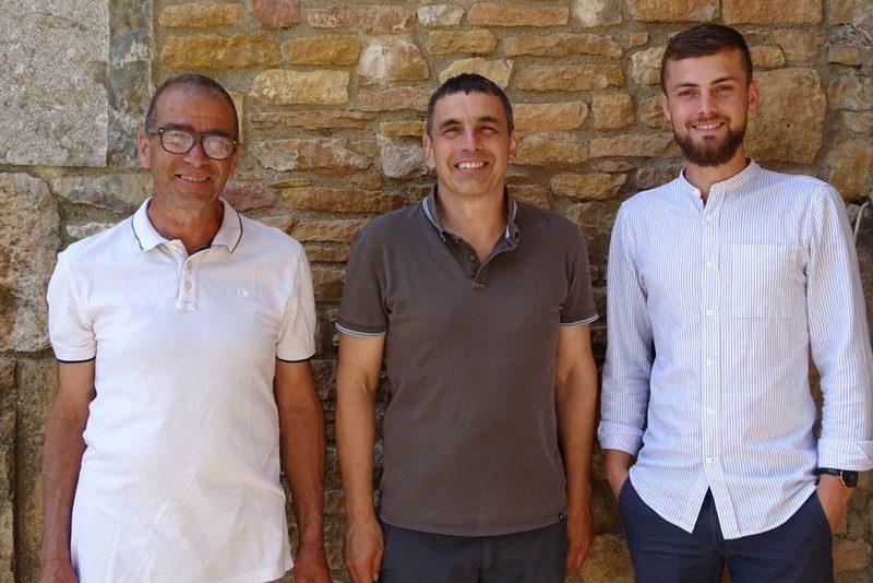 Domaine Le Bouc et la Treille, Stéphane Vier, Yves Aubry et Thimothée Bechonnet